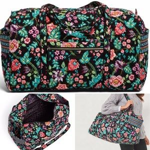 Vera Bradley Iconic Large Duffel in Vines Floral